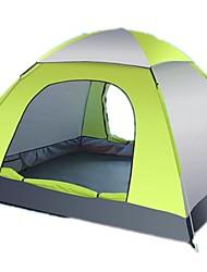 Недорогие -3-4 человека Походный коврик Световой тент Тент для пляжа Один экземляр Палатка Однокомнатная Автоматический тент Дожденепроницаемый
