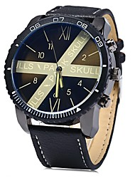 Pánské Náramkové hodinky čínština Křemenný Velký ciferník Nerez Kapela Cool Černá Modrá Červená Orange