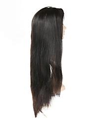 Недорогие -Remy Полностью ленточные Парик Бразильские волосы Прямой Парик С пушком 130% Природные волосы Жен. Короткие / Средние / Длинные Парики из натуральных волос на кружевной основе / Прямой силуэт