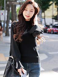 economico -Standard Pullover Da donna-Per uscire Casual Semplice Moda città Tinta unita Girocollo Manica lunga Cotone giapponese Inverno Autunno