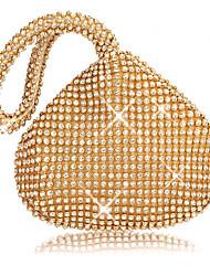 baratos -Mulheres Bolsas vidro Tote Ziper Dourado / Prata