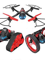 baratos -RC Drone H3 Canal 4 6 Eixos 2.4G Com Câmera HD 0.3MP Quadcópero com CR Modo Espelho Inteligente Quadcóptero RC / Controle Remoto / Manual