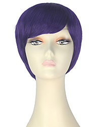 cheap -Synthetic Wig Straight Purple Women's Capless Carnival Wig Halloween Wig Party Wig Lolita Wig Natural Wigs Cosplay Wig Short Synthetic