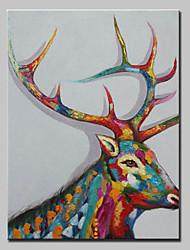 abordables -Peint à la main Animaux Format Vertical, Animaux Moderne Toile Peinture à l'huile Hang-peint Décoration d'intérieur Un Panneau