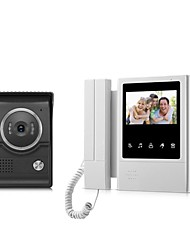 cheap -XSL-V43E168-LTouch Screen Wired Visual Doorbell 4.3 Inch LCD Video Monitor  Door Phone Intercom System Door Unlock Doorbell Camera