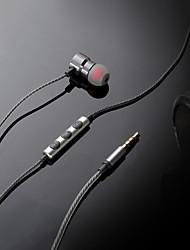 abordables -S9 Dans l'oreille Câblé Ecouteurs Dynamique Plastique Pro Audio Écouteur Avec contrôle du volume / Avec Microphone Casque