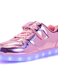 cheap -Girls' Shoes Leatherette Winter Fall Comfort Sneakers for Casual Pink Silver Gold