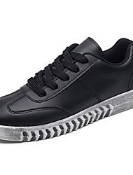 Masculino sapatos Couro Ecológico Primavera Outono Conforto Tênis para Casual Preto Branco/Preto Preto/Vermelho