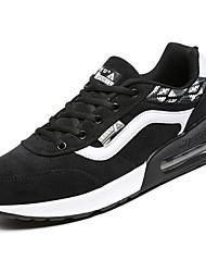 baratos -Homens sapatos Couro Ecológico Tecido Jeans Inverno Outono Conforto Tênis Corrida para Casual Rosa claro Branco/Preto Preto/Vermelho