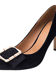cheap -Women's Shoes Fabric Spring / Fall Basic Pump Heels Stiletto Heel Pointed Toe Buckle Black / Light Pink / Party & Evening / Dress