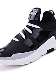 Masculino sapatos Borracha Inverno Conforto Tênis Basquete Botas Curtas / Ankle Cadarço de Borracha para Atlético Branco Preto Vermelho