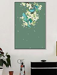 economico -Floreale/Botanical Ad olio Decorazioni da parete,Lega Materiale con cornice For Decorazioni per la casa Cornice Cucina Sala da pranzo