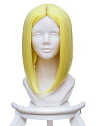 cheap -Cosplay Wigs Land of the Lustrous Yellow Diamond Anime Cosplay Wigs 35 CM Heat Resistant Fiber Female
