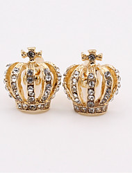 cheap -Crown Silver Blue Golden Cufflinks Imitation Diamond Alloy Classic Fashion Daily Men's Costume Jewelry