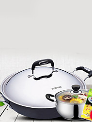 cheap -Plastic Stainless Steel Alloy Flat Pan Multi-purpose Pot,40*12