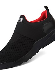 cheap -Men's Shoes Knit Breathable Mesh Winter Fall Light Soles Comfort Sneakers for Casual Outdoor White Black Red