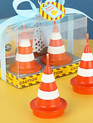 cheap -Birthday party supplies creative birthday candles little boy engineering toys series traffic cones