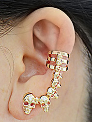 cheap -Men's Women's Rhinestone Stud Earrings Ear Cuff - Fashion Ethnic European Skull For Evening Party Carnival