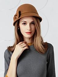 baratos -Lã Chapéus com Laço 1 Casamento / Roupa Diária Capacete