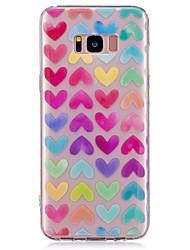 Недорогие -Кейс для Назначение SSamsung Galaxy S8 Plus S8 С узором Задняя крышка С сердцем Мягкий TPU для S8 Plus S8