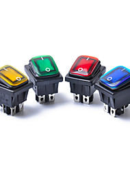 cheap -4PCS 12V 15A 4Pin Waterproof Rocker Switch With Lamp Light Dpst DPST Car Boat