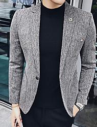 Masculino Ternos/Conjuntos Wear to work Trabalho Simples Outono,Sólido Longo Algodão Acrílico Decote V Manga Longa