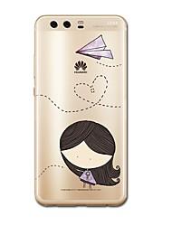 abordables -Funda Para Huawei P9 / Huawei P9 Lite / Huawei P8 P10 Plus / P10 Lite Diseños Funda Trasera Chica Sexy / Caricatura Suave TPU para P10 Plus / P10 Lite / P10