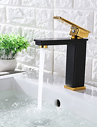 cheap -Contemporary Hardware Collection Centerset Ceramic Valve Single Handle One Hole Brown Bronze, Bathroom Sink Faucet