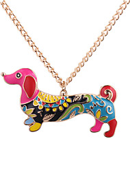 cheap -Women's Colorful Pendant Necklace - Colorful Ethnic European Dog Necklace For Daily