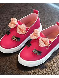 preiswerte -Mädchen Schuhe Kunstleder Frühling Herbst Schuhe für das Blumenmädchen Komfort Loafers & Slip-Ons für Normal Weiß Fuchsia Rosa