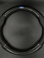 Недорогие -автомобильные крышки рулевого колеса (кожаное резиновое углеродное волокно) для ford все годы escort explorer ecosport taurus edge focus с