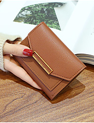 cheap -Women's Bags PU Wallet Buttons for Shopping Casual All Seasons Black Blushing Pink Gray Coffee Wine