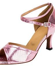 Недорогие -Латина Искусственная кожа Сандалии На каблуках Каблуки на заказ Розовый Персонализируемая