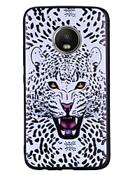 Недорогие -Кейс для Назначение Motorola G5 Plus G5 С узором Задняя крышка Леопардовый принт Животное Мягкий Силикон для Мото G5 Plus Moto G5 Мото G4