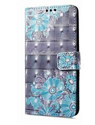 abordables -Funda Para Samsung Galaxy A8 2018 A8 Plus 2018 Soporte de Coche Cartera con Soporte Flip Magnética Diseños Funda de Cuerpo Entero Flor