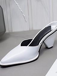 Недорогие -Жен. Обувь Наппа Leather Кожа Весна Осень Удобная обувь Башмаки и босоножки Высокий каблук для Повседневные Белый