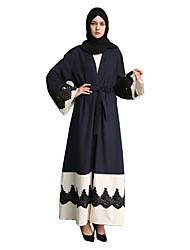 abordables -Mode Abaya Robe Arabe Femme Fête / Célébration Déguisement d'Halloween Bleu Autre