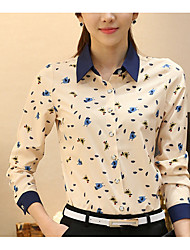cheap -Women's Casual Blouse Print Shirt Collar