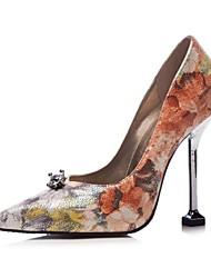 preiswerte -Damen Schuhe Glanz Frühling Herbst Neuheit Pumps High Heels Stöckelabsatz Spitze Zehe für Hochzeit Party & Festivität Silber Regenbogen