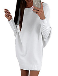 cheap -Women's Sweater Dress - Solid High Waist