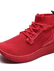 cheap -Men's PU(Polyurethane) Fall Comfort Boots Black / Red