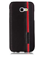 Недорогие -Кейс для Назначение SSamsung Galaxy A5(2017) A3(2017) С узором Задняя крышка Полосы / волосы Твердый Искусственная кожа для A3 (2017) A5