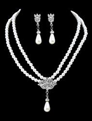 economico -Per donna Orecchini a goccia Collana Perle finte Diamante sintetico Elegant Dolce Di tendenza Matrimonio Feste Perle finte Diamanti