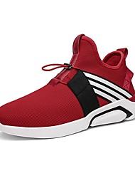 Obuv PU Jaro Podzim Pohodlné Atletické boty pro Sportovní Ležérní Černá Šedá Červená