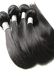 preiswerte -2018 neues Jahr Verkauf 9a brasilianisches reines Haar Seide gerade 4 Bündel 400g viel sehr weiche und glatte Textur natürliche