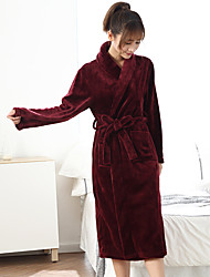 cheap -Superior Quality Bath Robe, Solid Colored 100% Polyester Bathroom