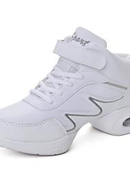 cheap -Dance Sneakers Leatherette Sneaker Splicing Flat Heel White Customizable