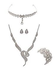 economico -Per donna I monili nuziali Gioielli per fronte Strass Diamanti d'imitazione Lega Di forma geometrica Volpe Di tendenza Europeo Matrimonio