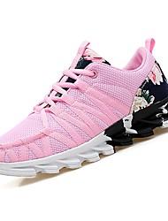 abordables -Femme Chaussures Grille respirante Printemps / Automne Confort Chaussures d'Athlétisme Course à Pied Talon Plat Bout rond Noir / Rose
