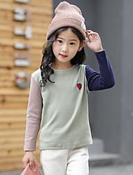 preiswerte -Unisex T-Shirt Alltag Einfarbig Baumwolle Kunstseide Frühling Herbst Einfach Grün Grau Hellgrün
